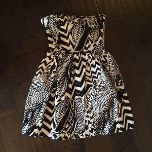 Aqua pattern dress
